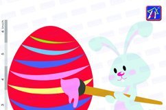 Easter bunny clip art - Personal and commercial use - Easter Product Image 4
