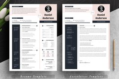 Modern Editable Resume Cv Template in Word Apple Pages Product Image 2