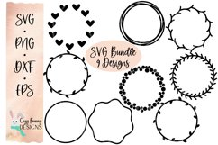Round Frames SVG Bundle for Signs or Keychains Product Image 1