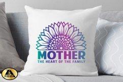 Mother SVG Mothers Day SVG Mom Life SVG Sunflower Heart SVG Product Image 3