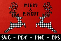 Merry and Bright Buffalo Plaid Reindeer Design Product Image 5
