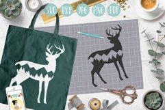 Deer svg, mountain deer clipart, mountain, adventure explore Product Image 2