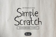 Simple Scratch Font Product Image 1