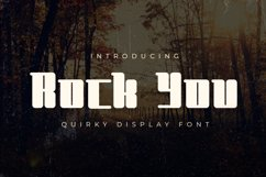Rock You - Quirky Display Font Product Image 1