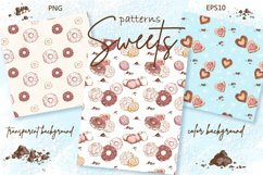 Sweets and Desserts. Sketch stickers. Part 1 Product Image 5