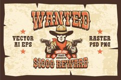 Wanted Wild West Cowboy 3 Posters Product Image 1