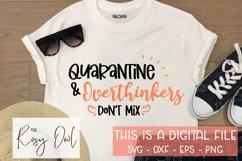 Overthinkers & Quarantine SVG PNG DXF EPS Product Image 1