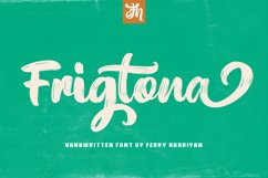 Frigtona - Handwritten Font Product Image 1