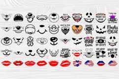Kids Face Mask SVG Bundle, Quarantine Svg, Face Mask Signs Product Image 2