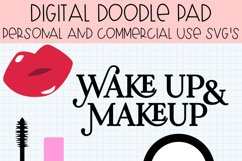 Wake Up & Makeup SVG Cut Files for Cricut & Silhouette Product Image 2