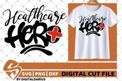 Healthcare Hero svg, Stethoscope svg, Medical svg, Nurse svg Product Image 2
