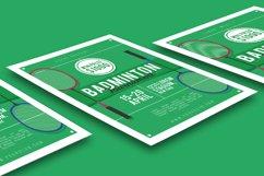 Badminton Tournament Flyer Product Image 2