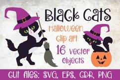 Black cats. Halloween clip art Product Image 1