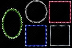 Gemstone/Diamonds Frames Clip Art Product Image 3