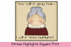 Stress Highlights Square Print Product Image 1