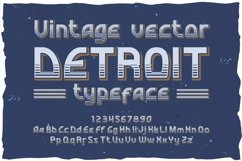 Detroit. OTF and Vector vintage font. Product Image 1
