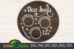 Santa Tray SVG Cut File, Dear Santa Tray Round Product Image 2