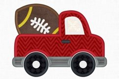 Football Truck Applique Design 1266 Product Image 2