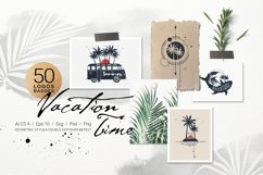 50 Logos & Badges. Vacation Time Product Image 1