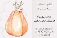 Halloween pumpkin, Watercolor Pumpkin, pumpkin png Product Image 1