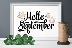 Hello September Lettering Phrase Text Graphic Product Image 2