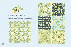 Lemon Fruit Seamless Pattern Tiles 6 x 6 Inches. Product Image 3