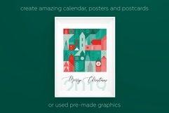 Christmas geometric pattern and postcard set. Product Image 3