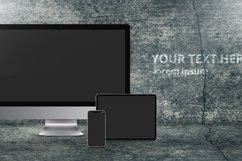 psd mockup with iPhone 11 Pro, iPad Pro, iMac Pro Product Image 2