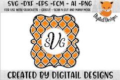 Clover Monogram Frame SVG Product Image 1