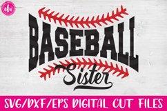 Baseball Sister - SVG, DXF, EPS Cut Files Product Image 1
