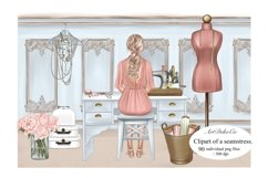 Customizable Seamstress Clipart, Craft Clipart. Product Image 1
