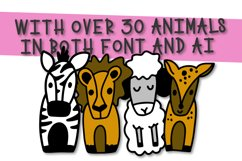 The Whole Zoo - Marker Font & Animal Dingbat Duo Product Image 3