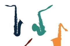 MUSICAL INSTRUMENTS collection Clipart. Vector illustration Product Image 2