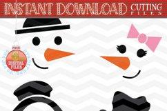 Snowman Faces SVG - Snowman Svg - Christmas bundle SVG Product Image 4