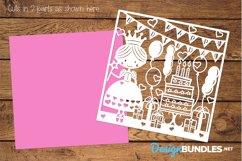 Happy Birthday princess paper cut design Product Image 2