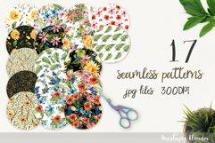 Patterns flower power 17 seamless jpeg seamless watercolor Product Image 1