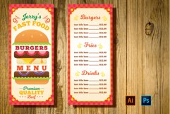 Burger Restaurant Menu Template Product Image 1