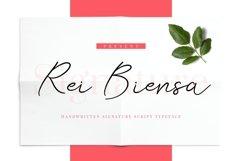 Rei Biensa - Casual Signature Script Typeface Product Image 1