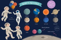 Space Adventure Clipart Bundle - Outer Space Fun Scenes Product Image 2