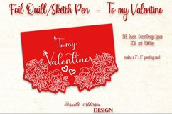 single line foil To my Valentine cutting foil greeting card Product Image 4