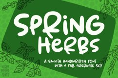 Spring Herbs - a bouncy, blobby, whimsical font! Product Image 1
