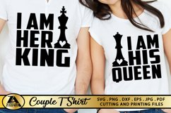 Queen SVG King SVG Valentines Day Tshirt SVG Love Quotes SVG Product Image 1