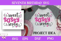 Girl Birthday SVG - Sweet Sassy and Seven Product Image 1