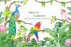 Pretty Garden. Watercolor collection Product Image 1