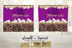 Nurse life blessed life violet tumbler wrap floral sublimate Product Image 4