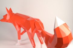 DIY Fox Papercraft, Red Fox, Fox Tail, Fox and Dogs, Fox Sculpture, Animal Trophy, Paper Animals, Home Decor, 3D origami, wild nature, foxy Product Image 3