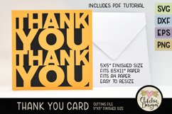 Thank You Card SVG - Thanks Card Cutting File, DXF, PNG, EPS Product Image 6