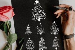 Papercut Merry Christmas Textual Tree Set Product Image 4