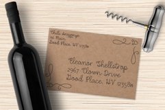 Dear Agatha - a single-line hairline pen & quill font duo! Product Image 6