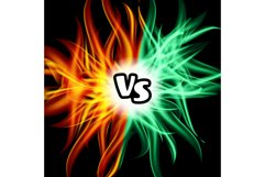Versus Vector. VS Letters. Flame Fight Background Design. Product Image 1